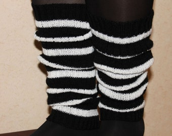 Striped leg warmers