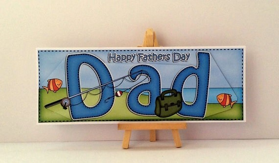 Dad fishing card fathers day card fishing fathers day card for Father s day fishing card