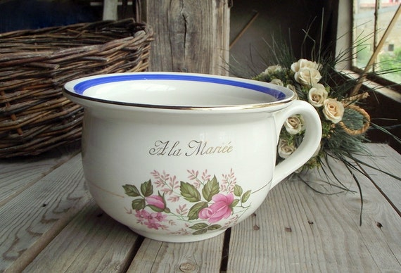 Ceramic chamber pot french vintage chamber pot with eye for French chamber