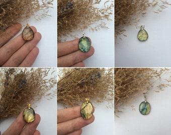 Labradorite Pendants // Multiple colors // 6 pieces //