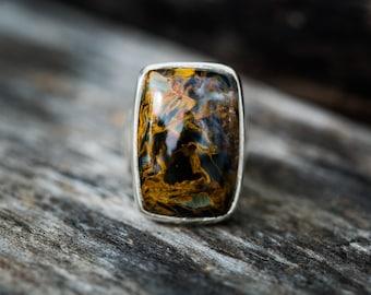 Pietersite Ring - Pietersite Ring size 7 - Pietersite Ring - Pietersite Jewelry - Pietersite Ring size 7 - Pietersite Ring