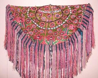 Vintage Huipil Mayan Shawl