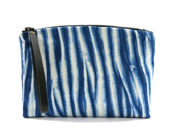 out-n-about clutch: arashi shibori