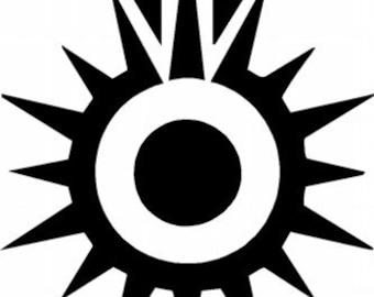 Star Wars Black Sun Stencil/Mask