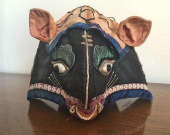 Antique Child's Silk Embroidered Hat