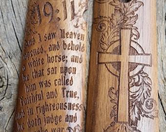 1911 Grips Revelation 19:11 Walnut Fits Colt, Kimber, Rock Island