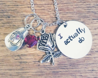Girl Meets World-Lucaya hand stamped necklace-Lucas Friar and Maya Hart