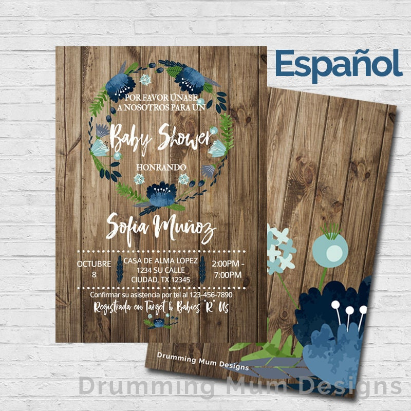 spanish baby shower invitation invitaci n en espa ol boy