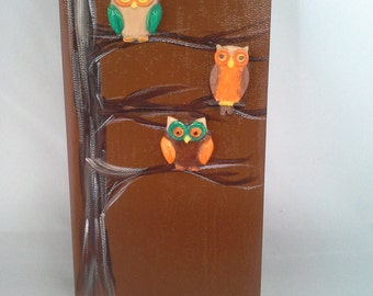 Three Owls in a tree journal
