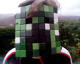 Creeper mask from Minecraft.