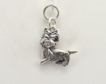 Silver West Highland White Terrier Charm fr Donna Pizarro's Animal Whimsey Line of Sterling Silver Westie Charms & Silver Westie Jewelry