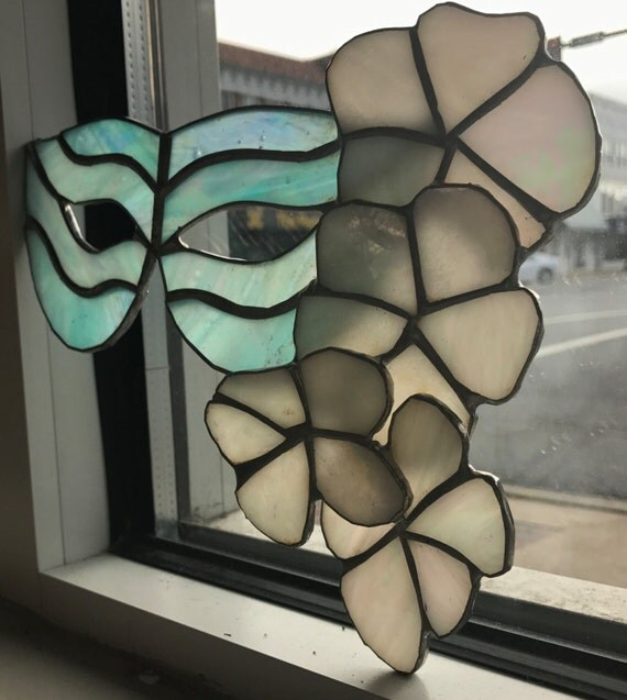 Masquerade Mask Stained Glass Sun Catcher