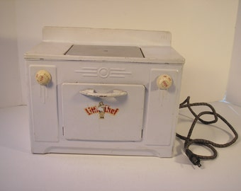 Little Chef tin toy stove by Tacoma metal products co.