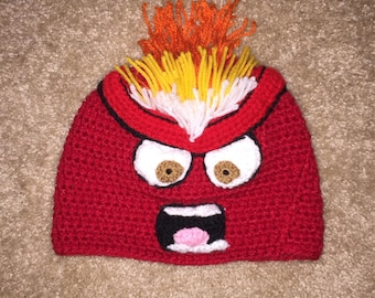 Anger Hat -  Inside Out Anger Hat Baby Newborn Toddler Adult
