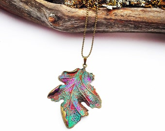Leaf Pendant,Leaf Necklace,Leaf Jewelry, Nature Inspired Jewelry,Nature Jewelry,Nature Necklace,Woodland Jewelry,Statement Necklace,Leaf