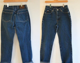 Guess Jeans Straight Leg Mid Rise Medium Wash Guess 050 Jeans 1990's Size 28