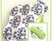 "8"" Velour Damask Cloth Menstrual Pad - Mama Cloth"