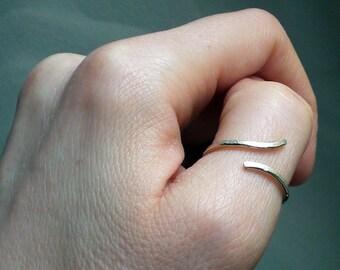 Minimal silver thumb ring // silver ring // Minimal ring // Thumb ring // Silver jewelry // Fine Silver