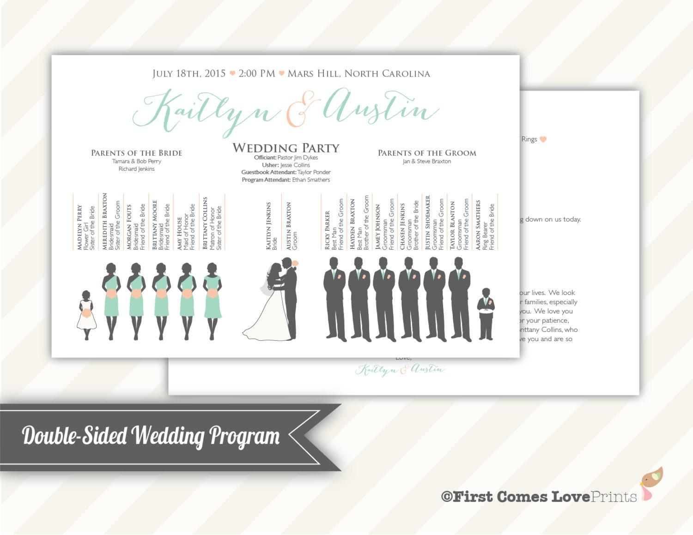 Wedding program pdf   Etsy
