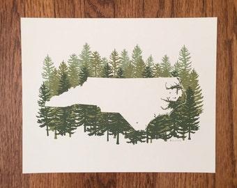 North Carolina State Print - Pine