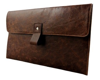 """12.9"""" Leather iPad Pro Case - Rustic Brown (can be personalized)"""