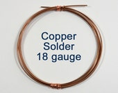 Copper Wire Solder - 18 Gauge - Choose Your Length