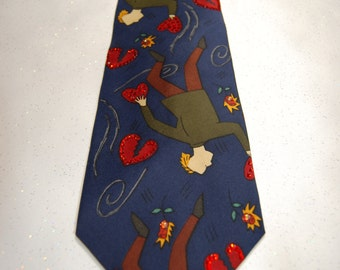 If I Fell Beatles rhinestone necktie