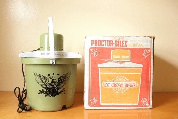 Vintage Electric Ice Cream Maker Freezer 1975 Proctor Silex