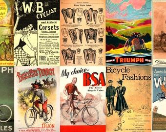 140 Fantastic 'Print Ready' Vintage Cycling Ad Posters - Print & Sell - FREE SHIPPING!