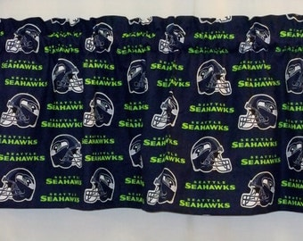 "Seattle Seahawks NFL Football Valance Curtain - Choose Lined or UnLined 40"", 52"" & 80"" W x 13"" L"