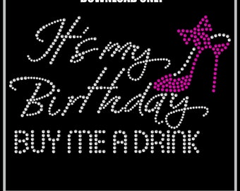 Rhinestone Transfer Template Pattern Stencil - Birthday- Party - Cute-  DOWNLOAD - DIY - Sticky Flock