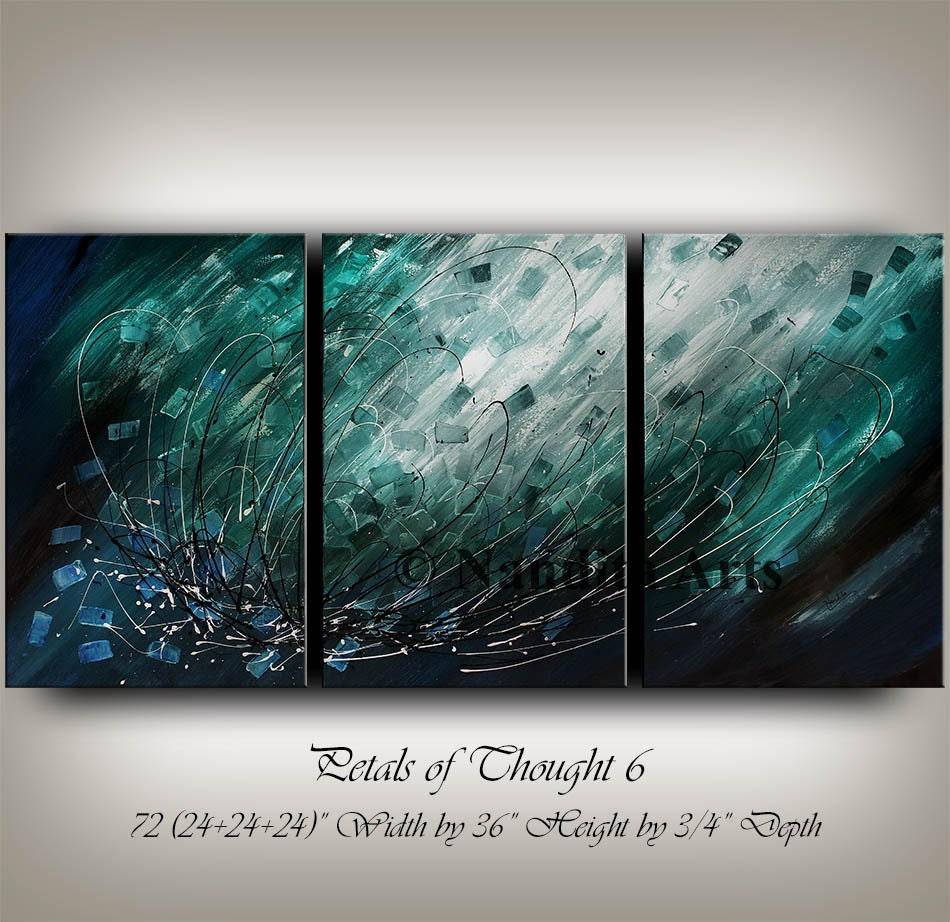 Wall Art Turquoise Blue Teal Home By Contemporaryartdaily