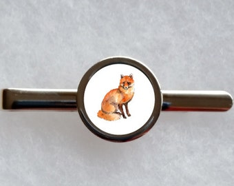 Fox Tie Clip - can be fully personalised