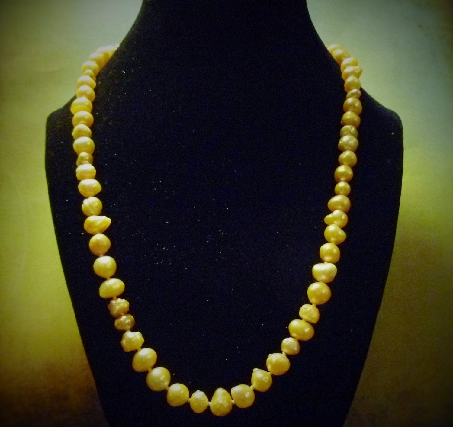 Wedding Pearls 22 Inches long with Nickle Free Clasp Peach Colored Hand Strung Fresh Water Pearls