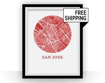 San Jose Map Print - City Map Poster