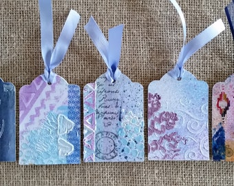 Original Art Tags; Unique Gift Tags: Mixed Media Art; Bookmarks; Journaling Tags