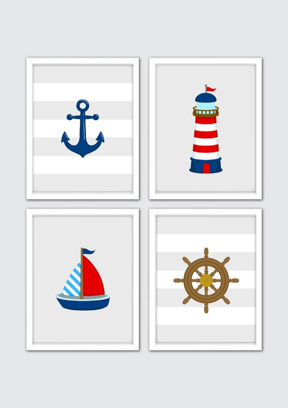Nautical Art Nautical Decor Nautical Nursery Art Nautical