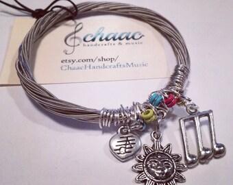 Guitar strings bracelet