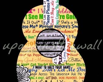 Beatles Song Print. Let It Be.