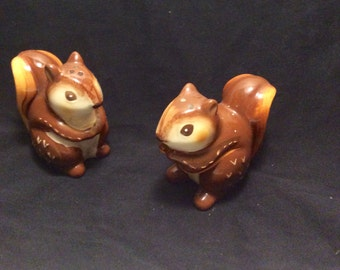 Vintage Squirrel Salth and Pepper Shakers