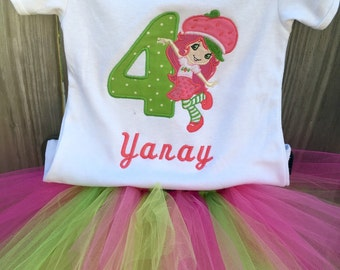 Strawberry Girl Birthday Outfit - Strawberry Girl Tutu - Strawberry Party - Strawberry Girl Birthday