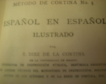 vintage book-Espanol en espanol-1920 edition-teacher manual-learning student-