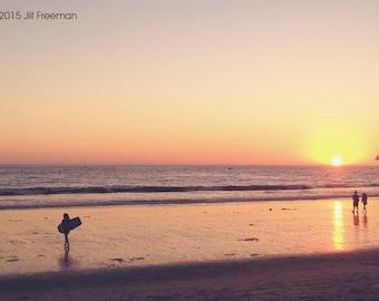 Santa Monica Sunset - Photo Print