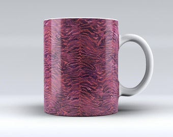 Wine Watercolor Tiger Pattern-ink Fuzed Ceramic Coffee Mug or Tea Cup