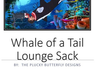 Whale of a Tail Lounge Sack Children's