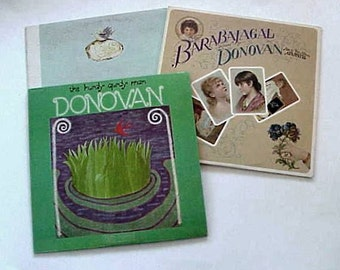3 DONOVAN LP Albums Barabajagal - In Concert and  Hurdy Gurdy Man