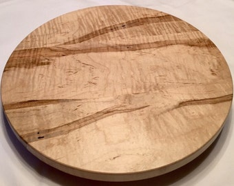 Curly Ambrosia Maple Lazy Susan
