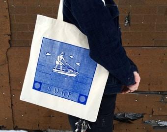 SURF - Silkscreened Tote Bag