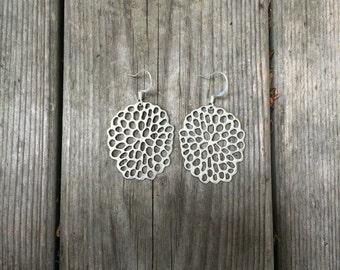 Matte Silver LaVerne Earrings