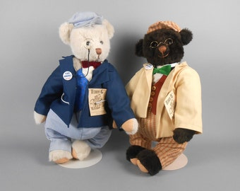 Teddy B and Teddy G The Roosevelt Bears Set of Bears by D&D Productions and Dean's Toy